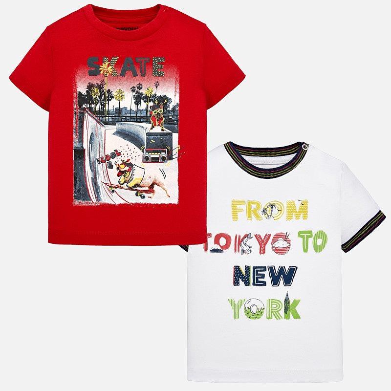 448223747597 Set maglietta manica corta stampate bambino Rosso - Mayoral