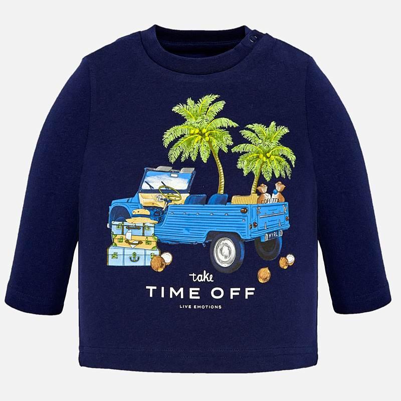 e5f3e10feadbc Camiseta manga larga TIME OFF bebé niño Azul - Mayoral