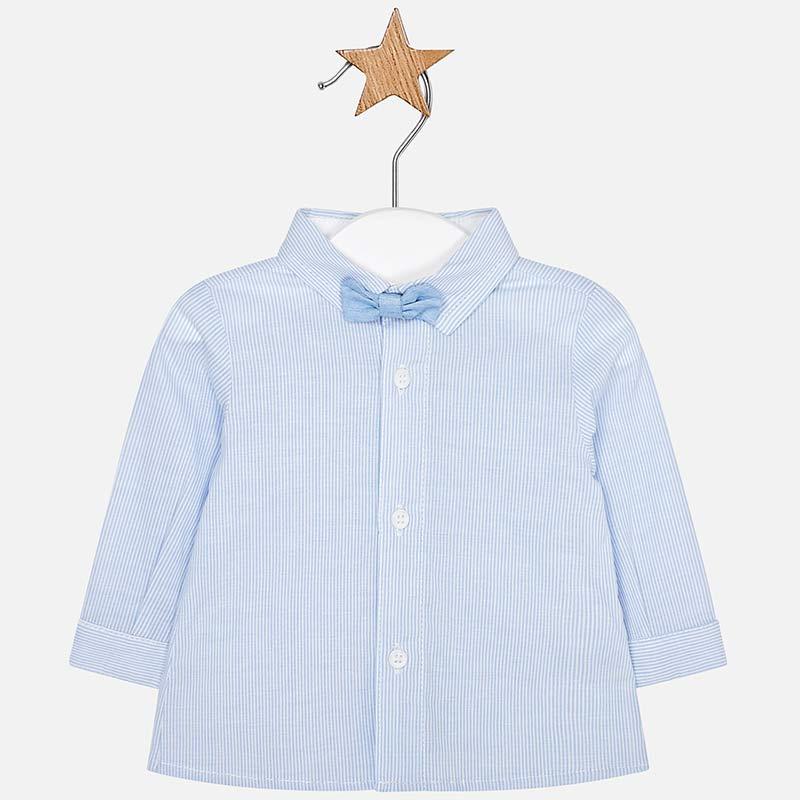 Camicia manica lunga con papillon neonato Sky