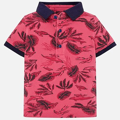 c89398d81 Short sleeved leaves polo shirt for baby boy
