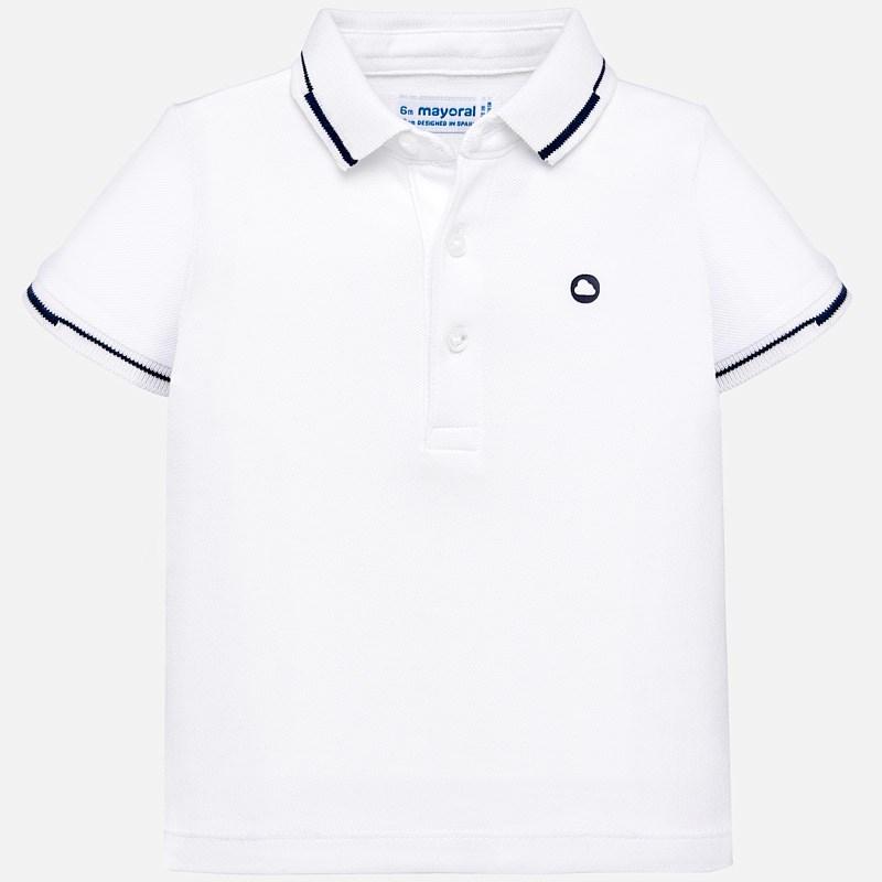 Bardzo dobryFantastyczny Gładka koszulka polo z krótkim rękawem dla chłopca Baby Biały RD74