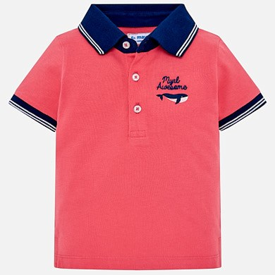 7166aa8f9 Short sleeved polo shirt for baby boy