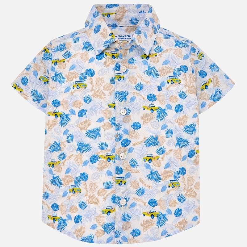 465014792 Camisa manga corta estampada bebé niño Citrón - Mayoral