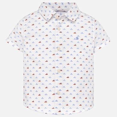 a063f689d Short sleeved patterned shirt for baby boy Lemon - Mayoral