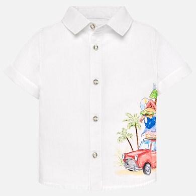 76a30f531 Camisa manga corta estampada bebé niño