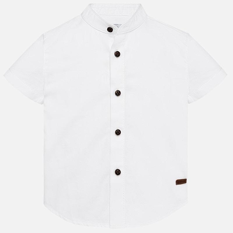 cc205514e Short sleeved mandarin collar shirt for baby boy White - Mayoral