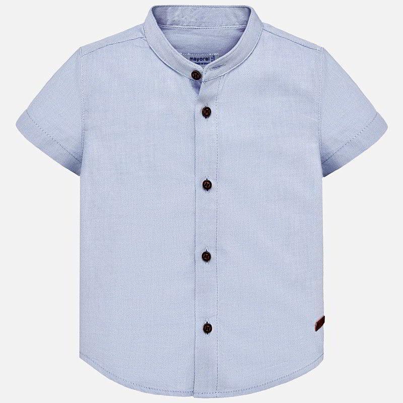 fdfb5188e Camisa manga corta cuello mao bebé niño Celeste - Mayoral