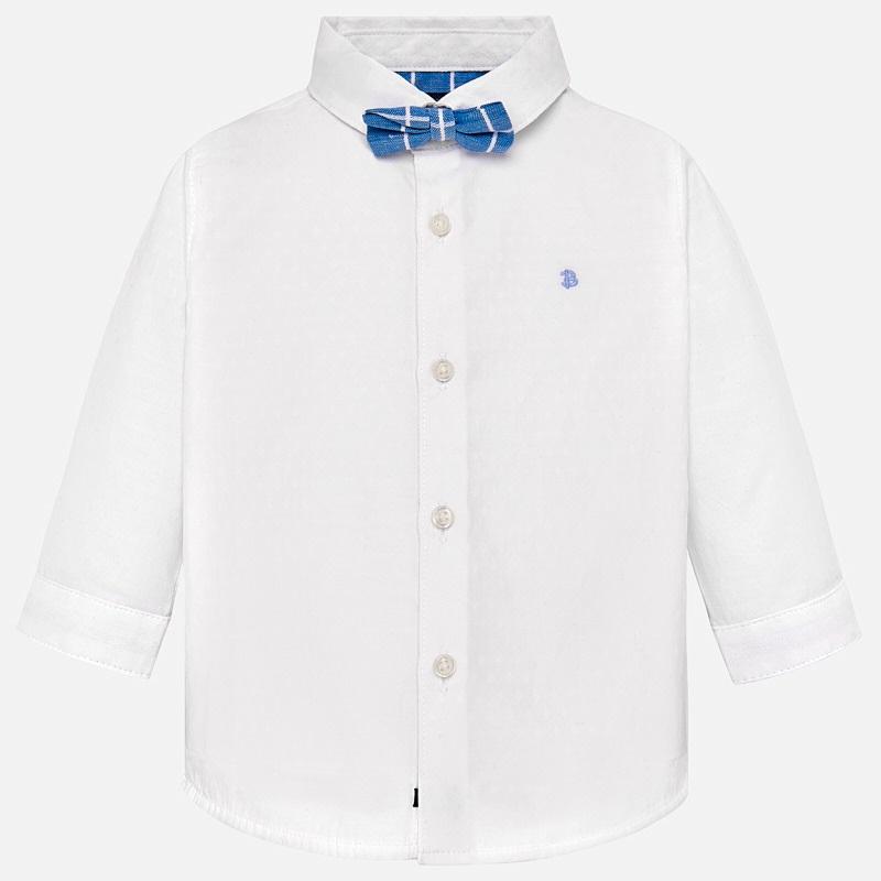 9dd798d3d Camisa manga larga con pajarita bebé niño Blanco - Mayoral