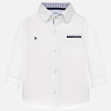 Camisa manga larga bolsillo bebé niño 58dcb51cc22e4