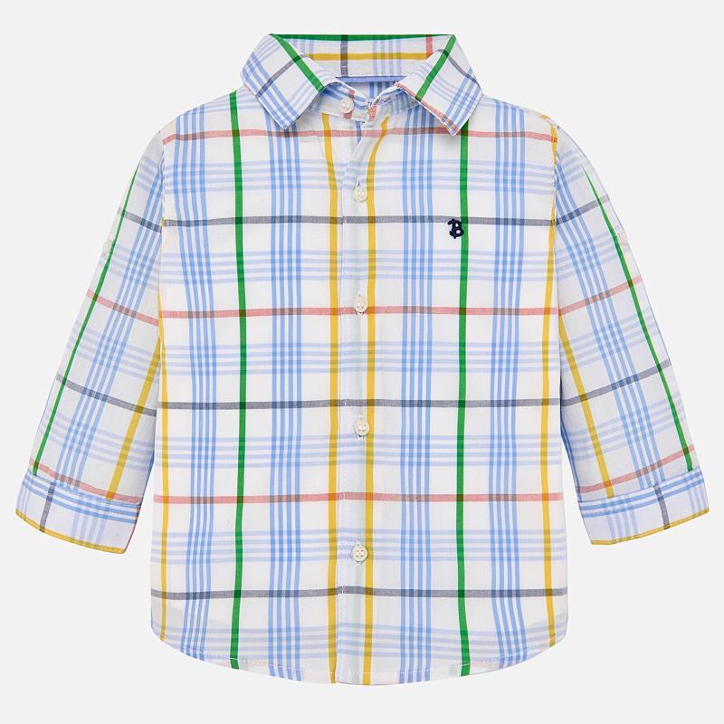 648cbd77dd Camisa manga comprida quadrados bebé menino Lavanda - Mayoral