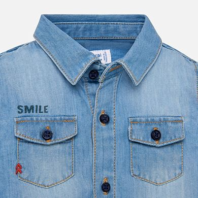 Camicia manica lunga jeans bambino Jeans - Mayoral 8b25f03caf1
