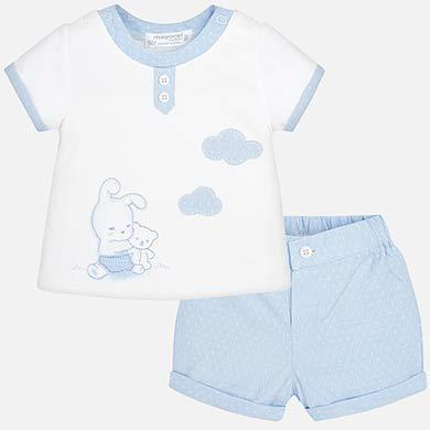 Σετ παντελόνι κοντό και μπλούζα νεογέννητο 881bcef11ec
