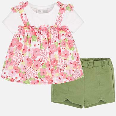 3c77c2752 Conjunto blusa y shorts bebé recién nacida