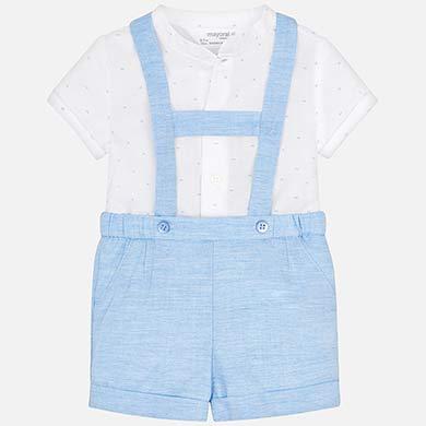 Σετ πουκάμισο και παντελόνι κοντό με τιράντες νεογέννητο 594cdaca425