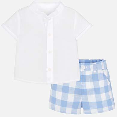Σετ πουκάμισο και παντελόνι καρό νεογέννητο 4297e2f62c7
