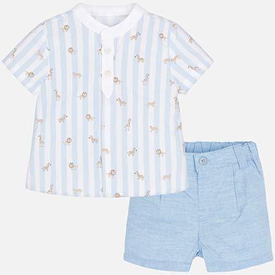 c6e450a6c Conjunto camisa rayas y bermudas bebé recién nacido