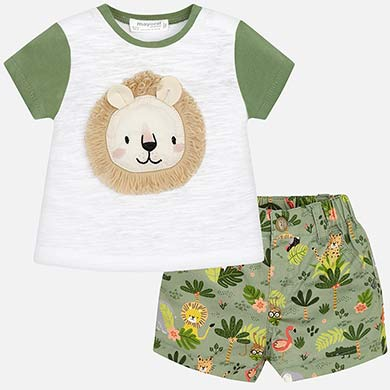 5f1f7046c Lion t-shirt and shorts set for newborn boy