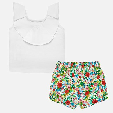 a82f1bebe Conjunto shorts y camiseta zapatos bebé niña Verde - Mayoral