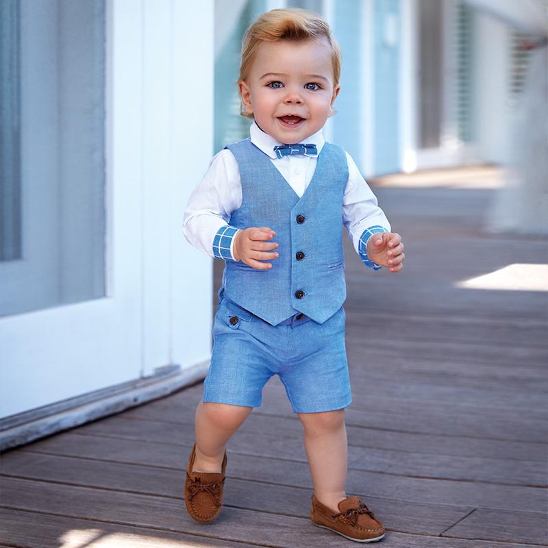 Bermuda lino elegante bambino Lavanda