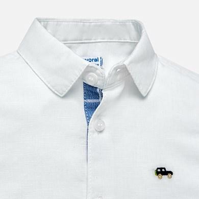 9bb6c2d972 Conjunto camisa e bermudas linho bebé menino Lavanda - Mayoral