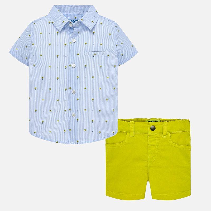aead7c8e390b Shirt and contrasting shorts set for baby boy Lemon - Mayoral