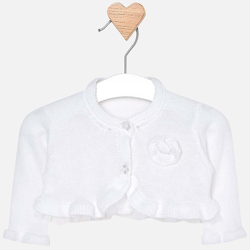 8c86c39bc Formal cardigan for newborn girl White - Mayoral