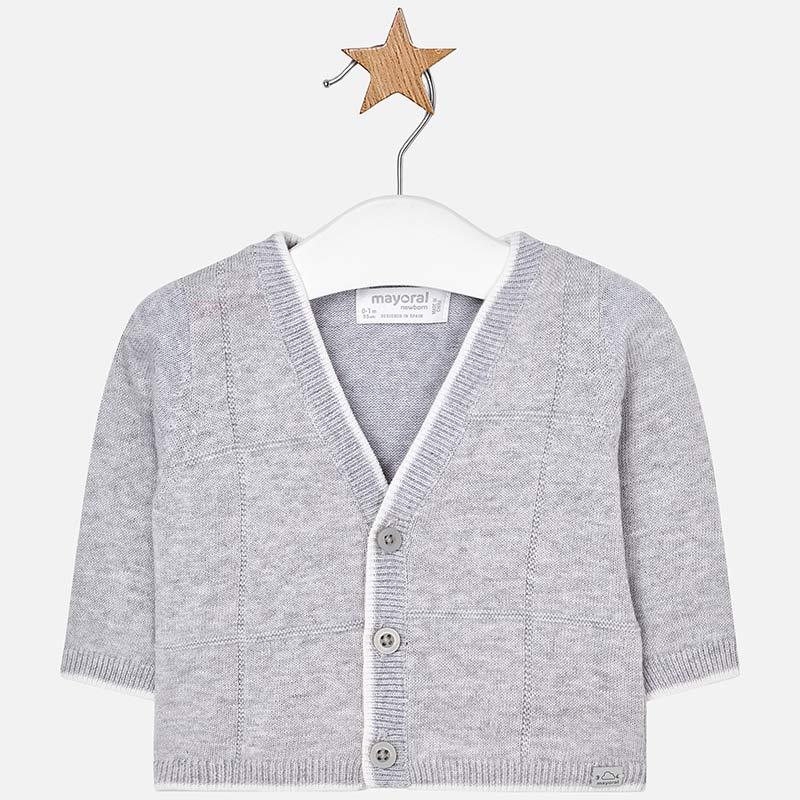 e34c7f8a9 Knitted cardigan for newborn boy Pearl - Mayoral