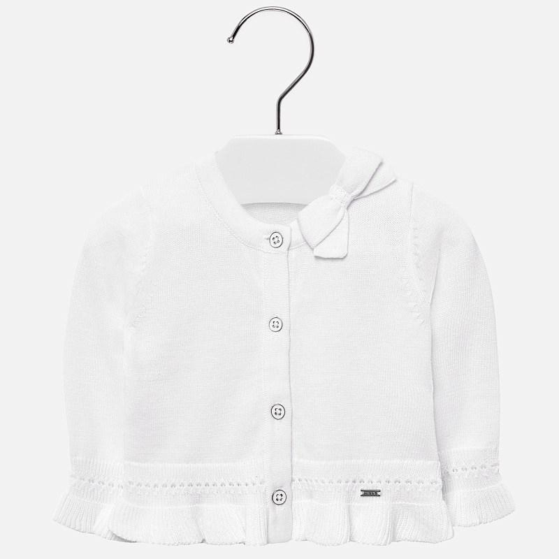 f07914ed3fe3 Ruffled cardigan for baby girl White - Mayoral