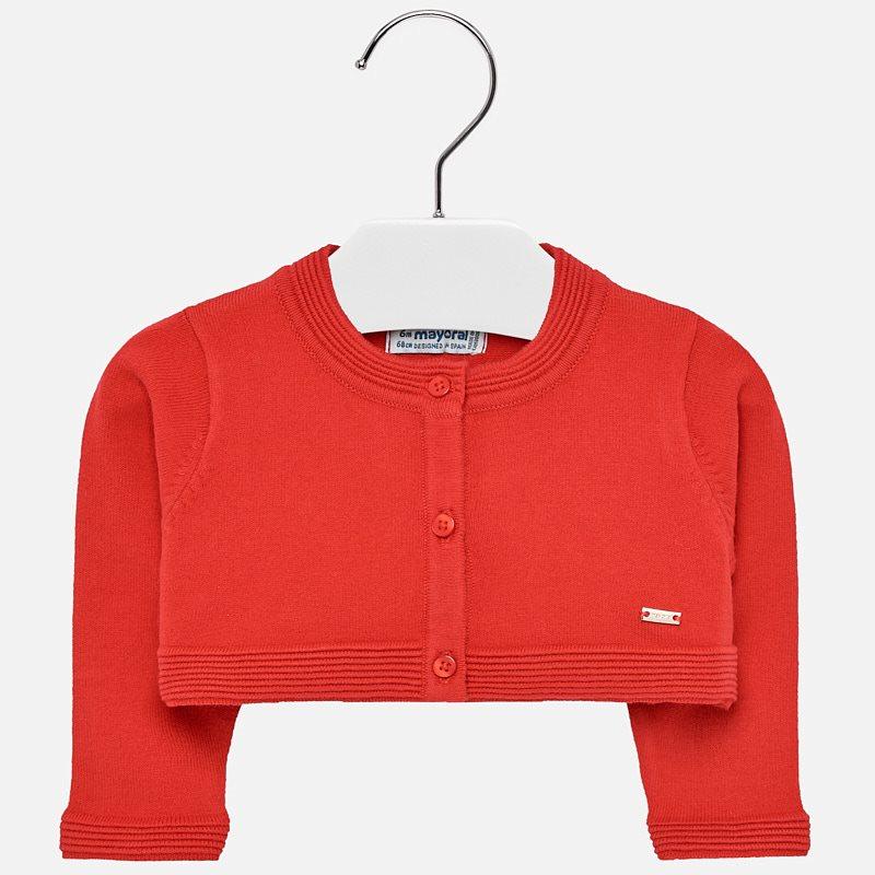 a47530b533c479 Kurze Strickjacke Baby Mädchen Rot - Mayoral