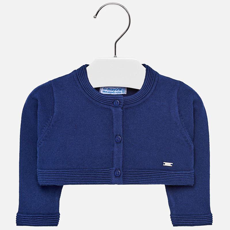 17143ed80 Bolero cardigan for baby girl Navy blue - Mayoral