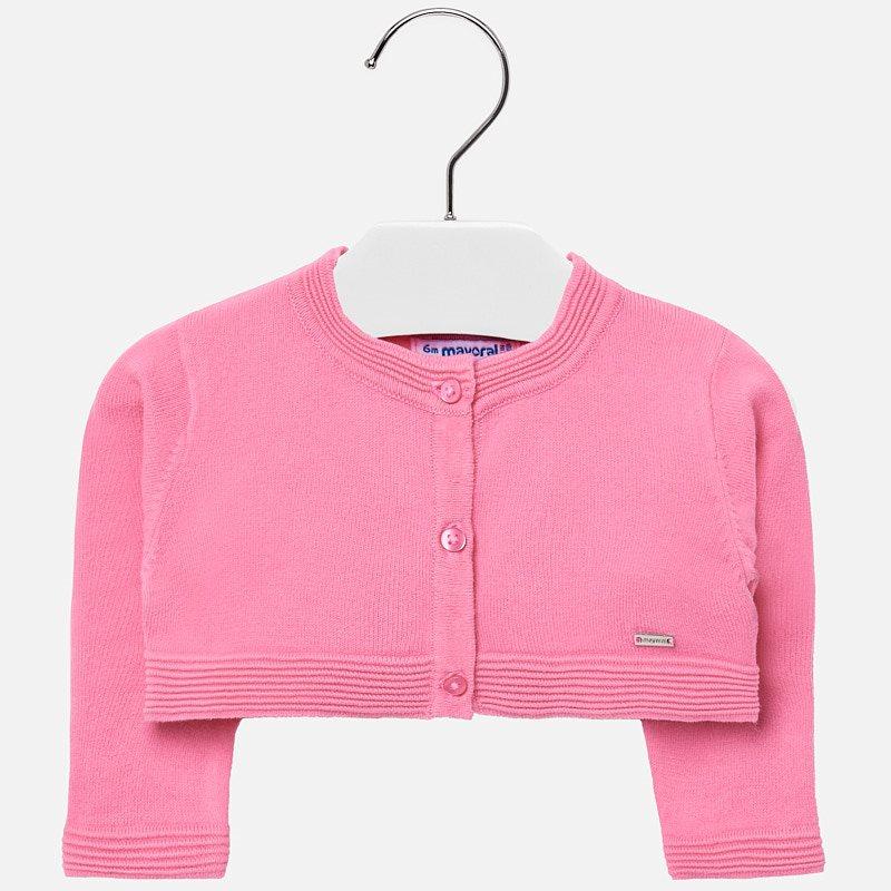 f5e5f36047a6 Bolero cardigan for baby girl Bubblegum - Mayoral