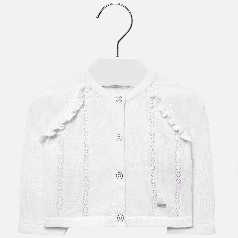 4e719a083db1 Openwork detailed cardigan for baby girl White - Mayoral