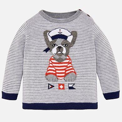 Pullover bestickter Pullover Baby Jungen Marmor Mayoral