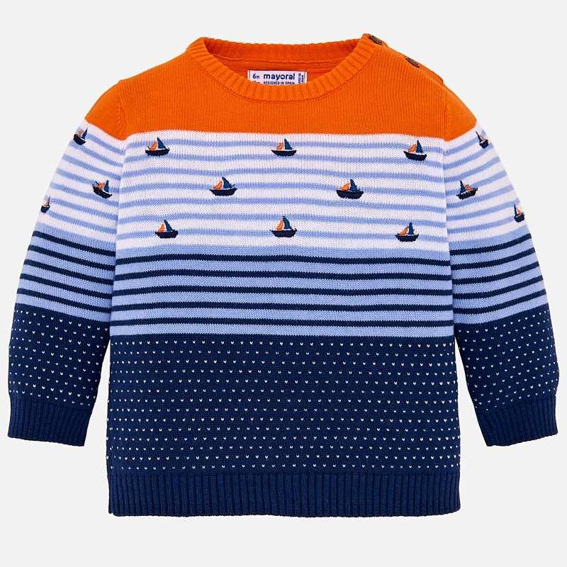 0ff3267c0 Patterned striped jumper for baby boy Passion fruit - Mayoral