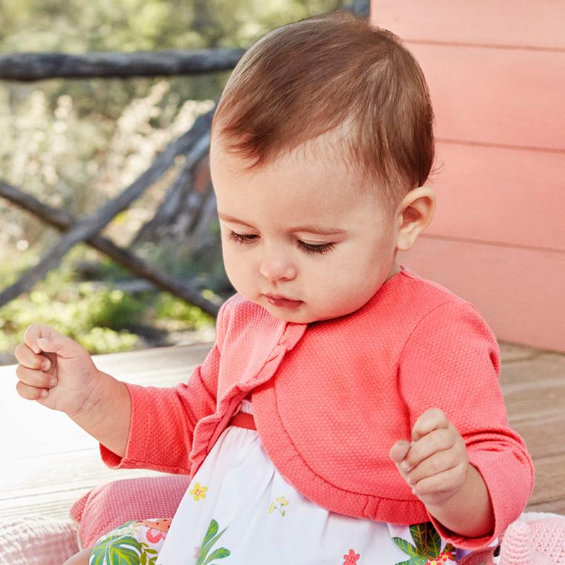 09c2eb29a Ruffled cardigan for newborn girl Flamingo - Mayoral