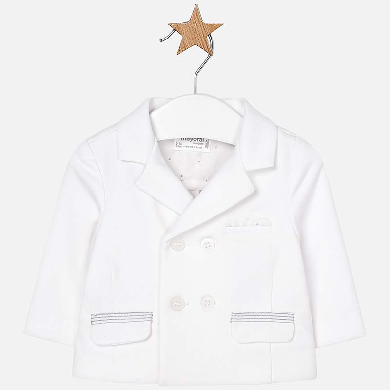 Giacca elegante neonato Bianco