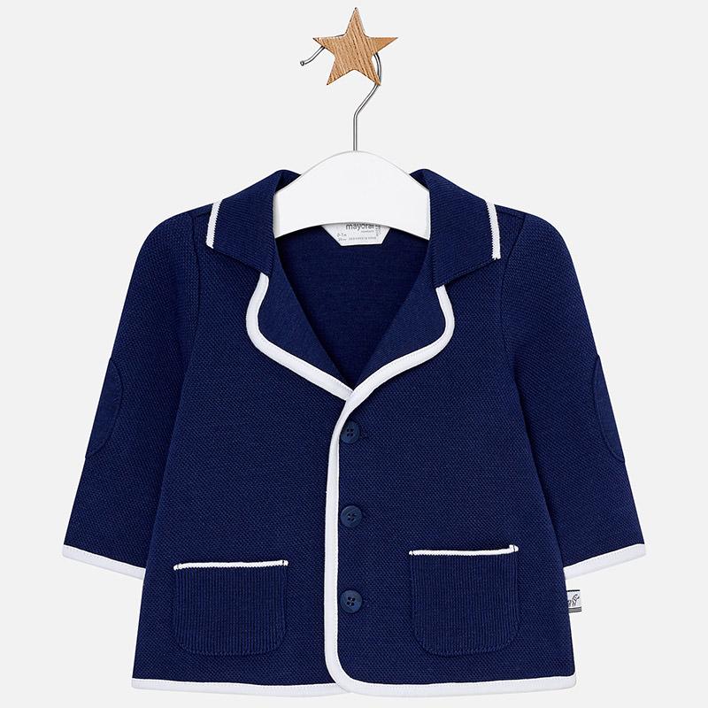 6400b56bd99d0 Chaqueta punto coderas bebé recién nacido Navy - Mayoral