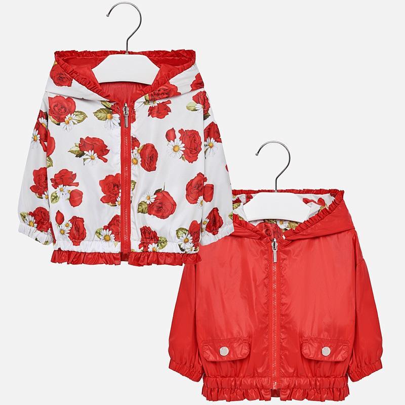 6c5775696 Chaqueta cortavientos reversible bebé niña Rojo - Mayoral