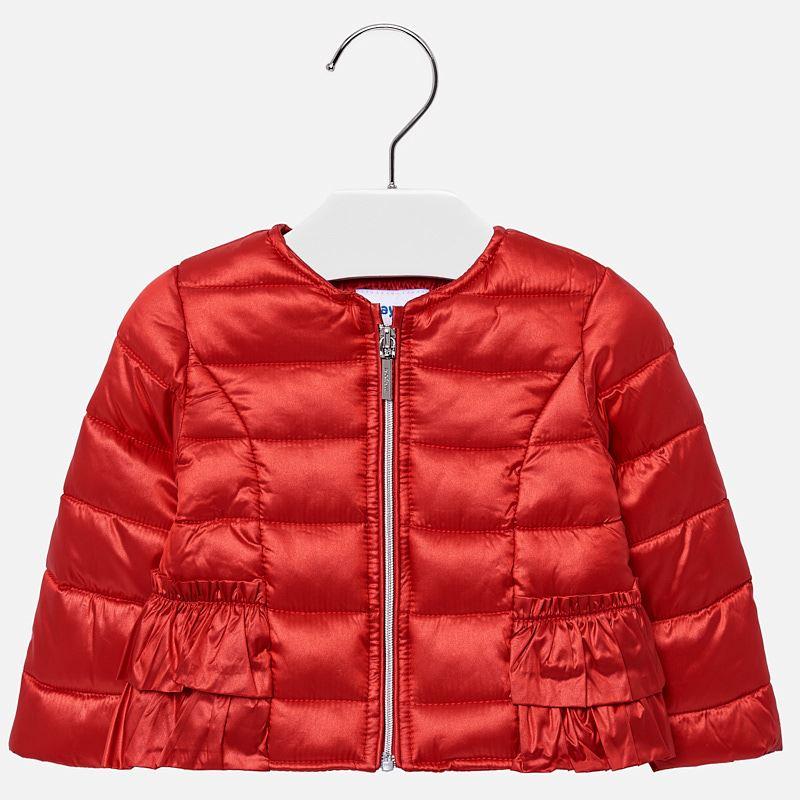 e8f35b4a6527 Ruffled jacket for baby girl Rojo - Mayoral
