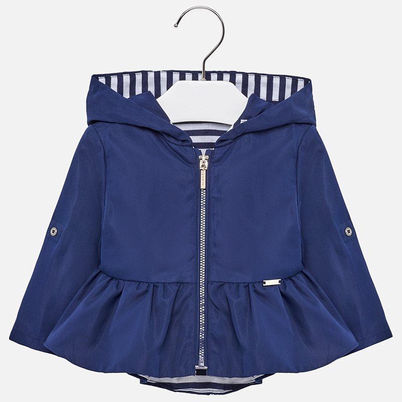 759ce5827a0d Αντιανεμικό με κουκούλα baby κορίτσι Ναυτικό μπλε - Mayoral