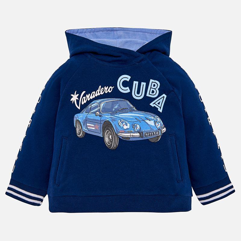 8713c85f5 Car print hoodie for baby boy Steel blue - Mayoral