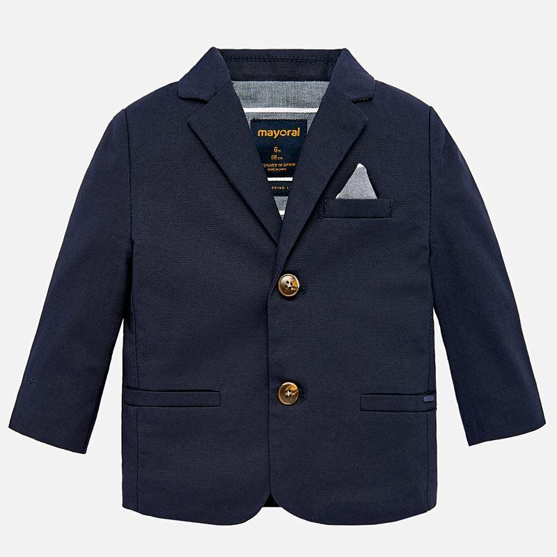 905e7db8f0d Linen blazer for baby boy Navy blue - Mayoral