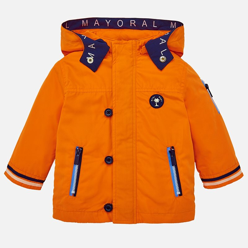 a17fc431a73 Nautical windbreaker jacket for baby boy Passion fruit - Mayoral
