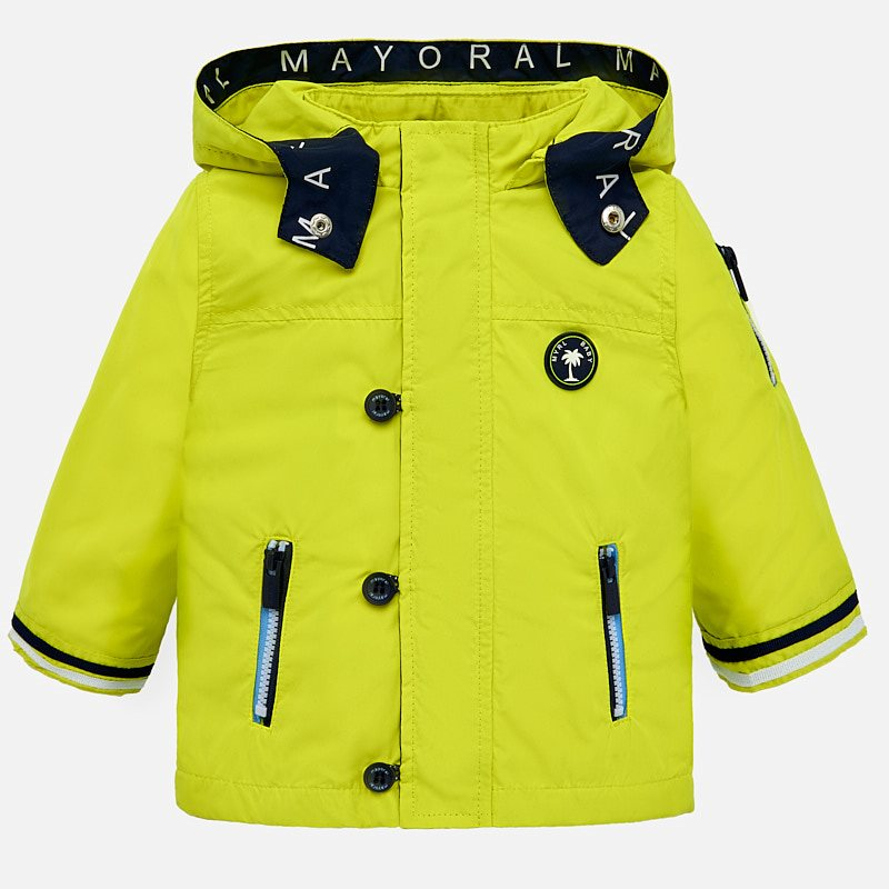8112b66ac25a Nautical windbreaker jacket for baby boy Lemon - Mayoral