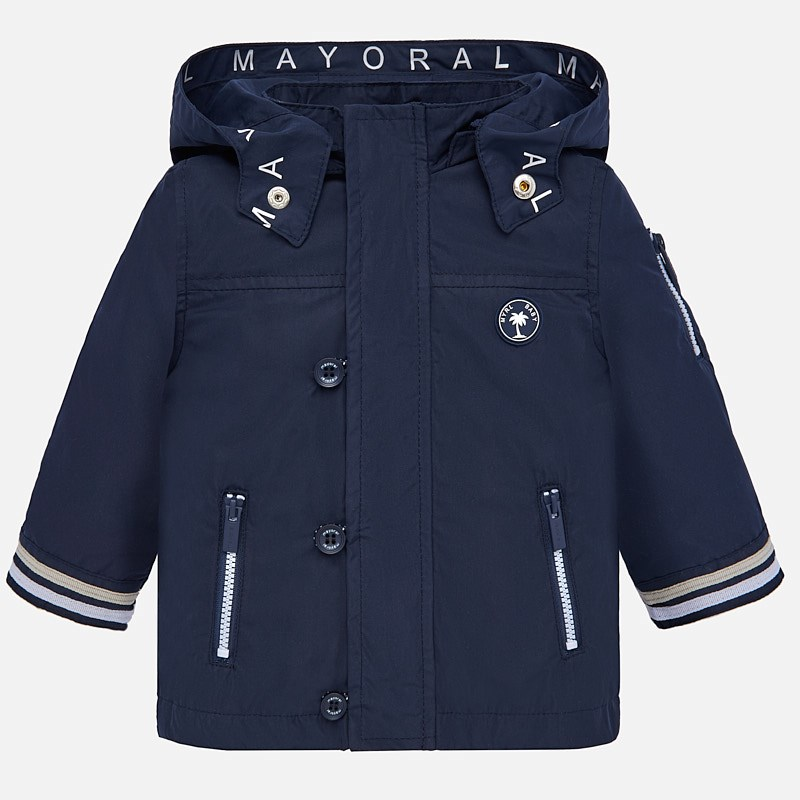 1060d5c63f57 Nautical windbreaker jacket for baby boy Navy blue - Mayoral
