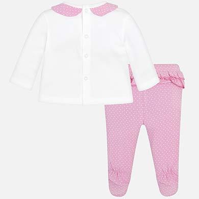 3c12006bd Conjunto polaina bolsillos bebé recién nacida Malva - Mayoral