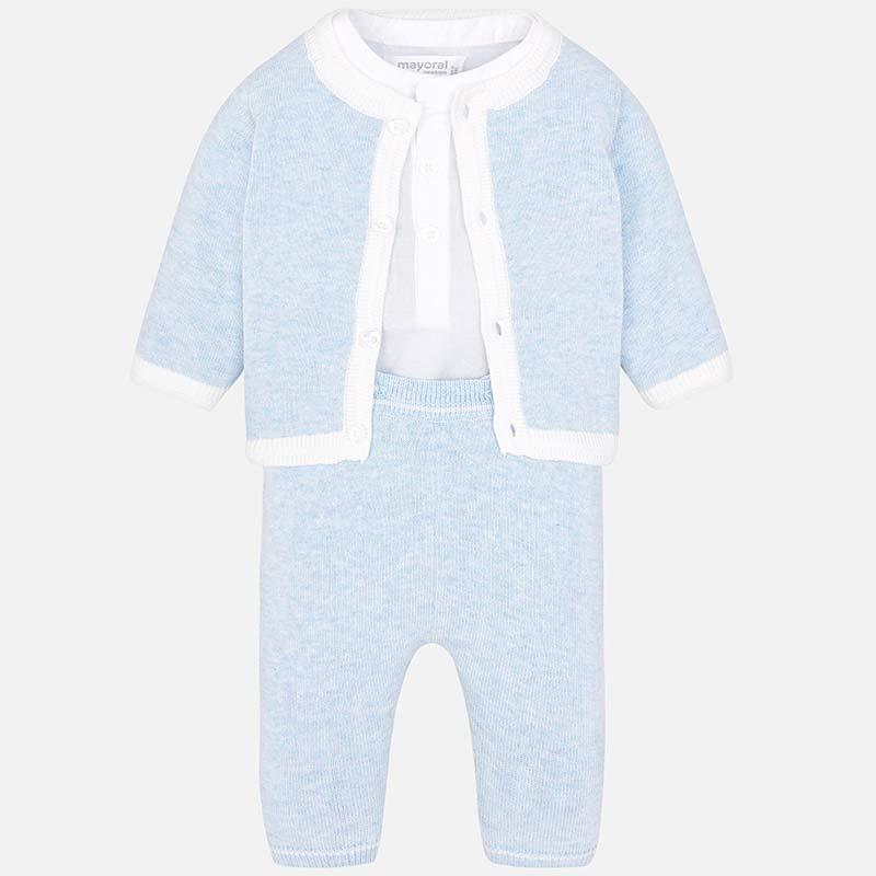 d771288e7 Conjunto de punto con pantalón largo bebé recién nacido Cielo vigoré ...