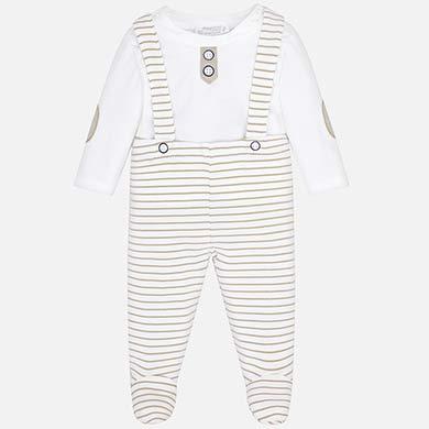 Conjunto calças com suspensórios bebé recém nascido Macadamia - Mayoral 0e1339b2e7a2
