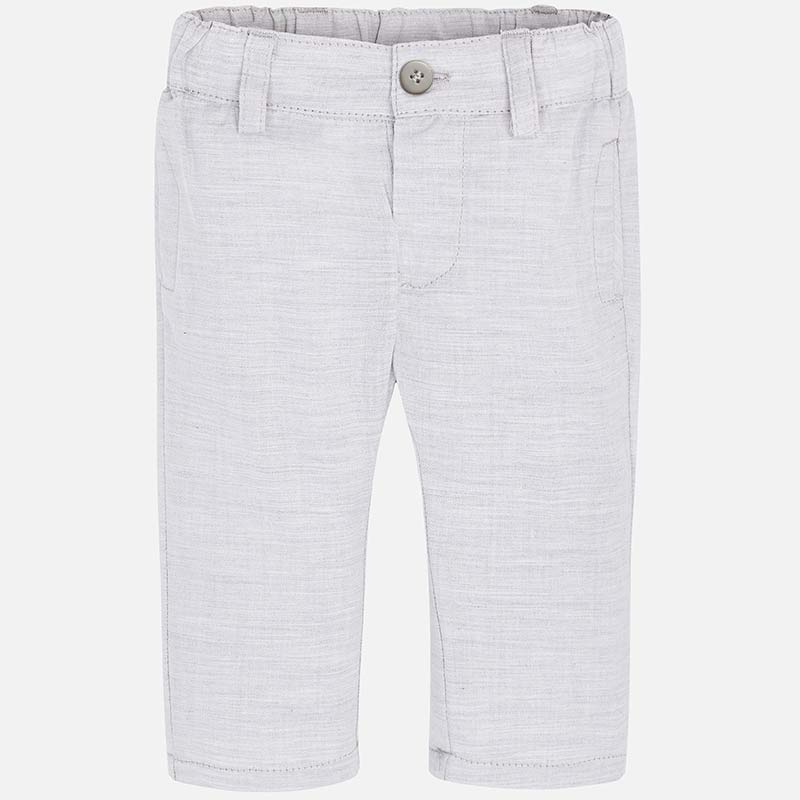 Pantalone elegante neonato Argento