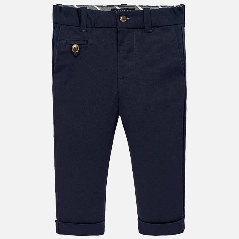13f7679e5 Formal linen trousers for baby boy Navy blue - Mayoral
